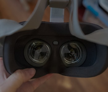 Oculus VR headset.
