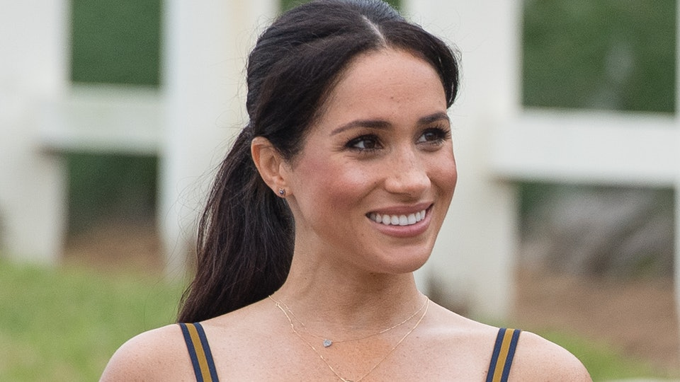 Meghan Markle looked relaxed and happy in a backyard interview with Gloria Steinem.