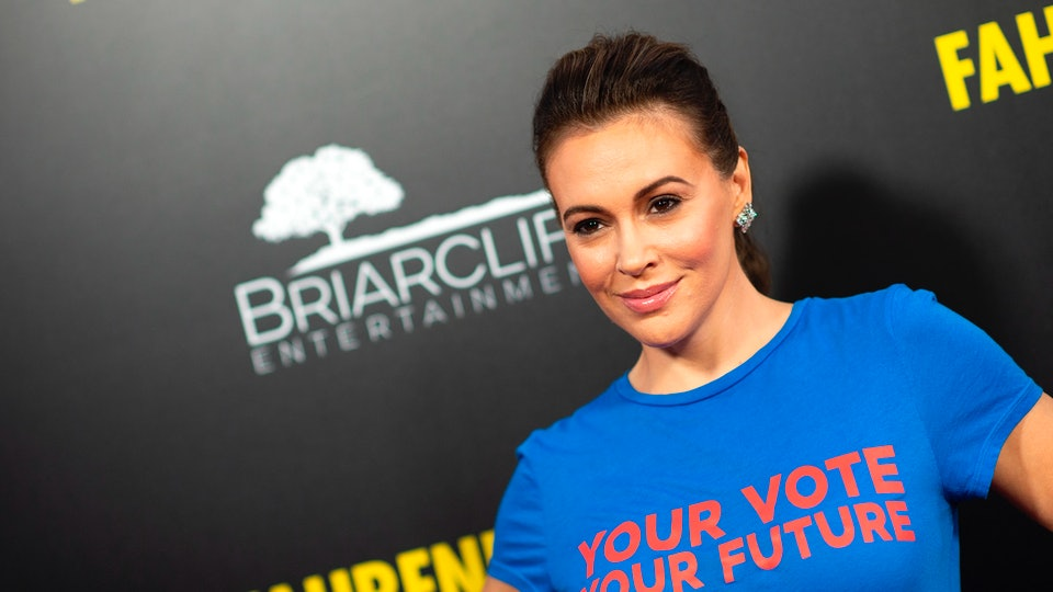 Alyssa Milano urged fellow mothers to vote at an online event hosted by Moms for Biden and Joe Mamas, grassroots campaigns working to get Democratic nominee Joe Biden elected.