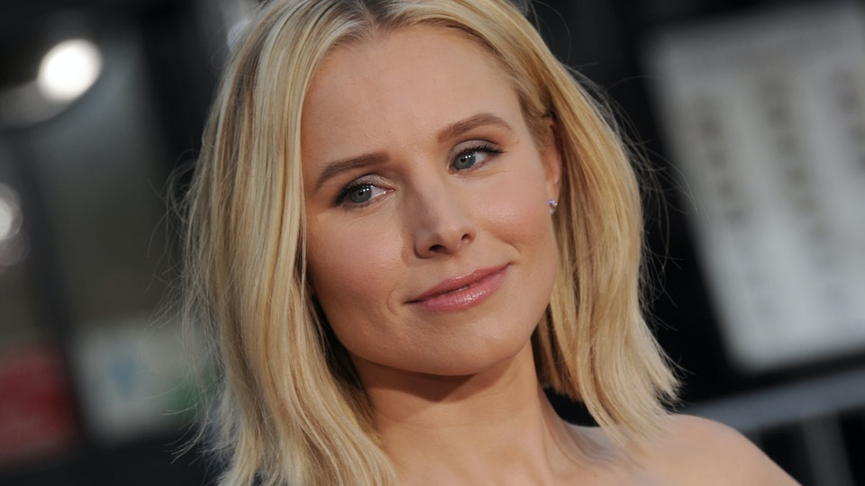 """Kristen Bell is """"exhausted"""" on day two of school."""