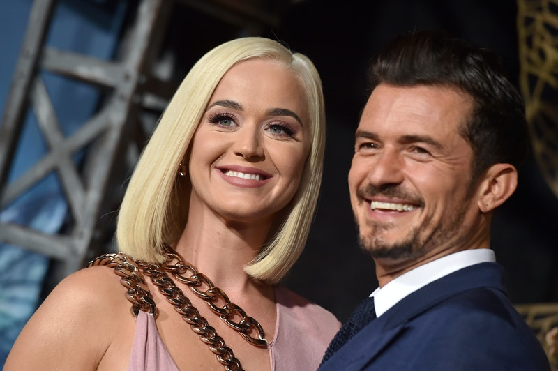 Katy Perry and Orlando Bloom at a public event
