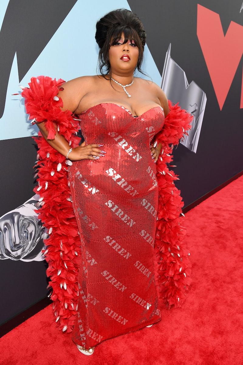 Lizzo on the VMAs red carpet
