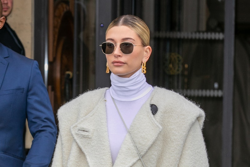 Hailey Bieber just dyed her hair a warm golden blonde color