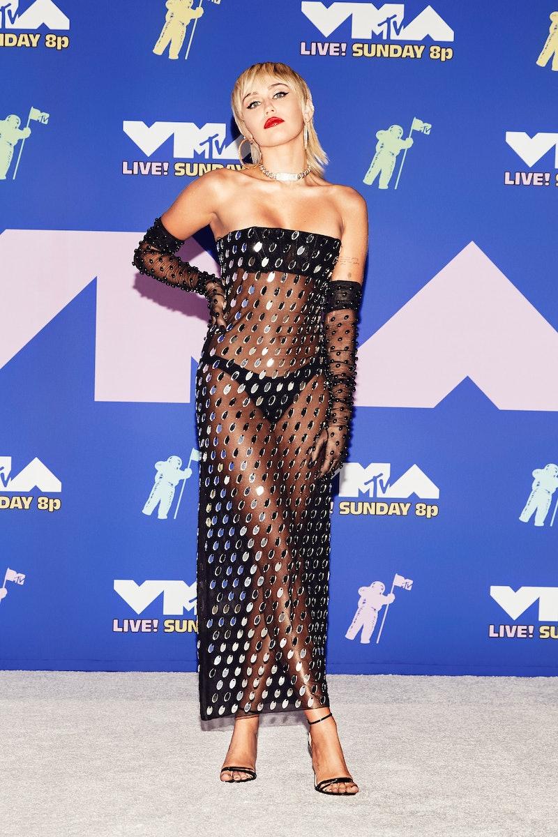 Miley Cyrus 2020 VMAs red carpet
