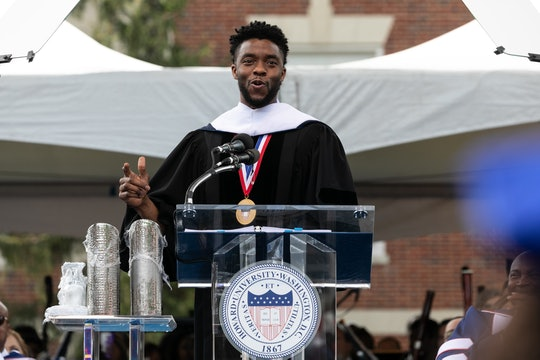 Chadwick Boseman's Howard University commencement speech, delivered in 2018, highlights the actor's inspirational message to others.