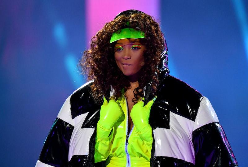 Keke Palmer rotated through several beauty looks during the VMAs.
