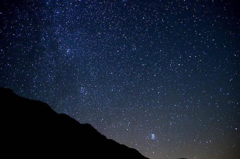 starry sky, sky, night