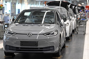 VW's electric ID.3 production line.