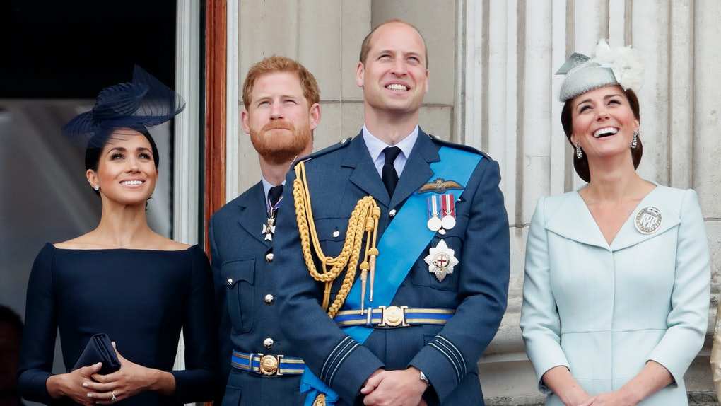 Meghan Markle, Prince Harry, Prince William, and Kate Middleton attend a royal engagement.