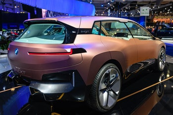 BMW's Vision iNext rear three-quarter view.