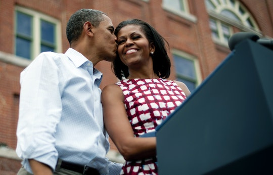 Barack Obama's birthday message from wife Michelle came with a throwback photo.