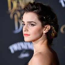 Emma Watson poses on the red carpet