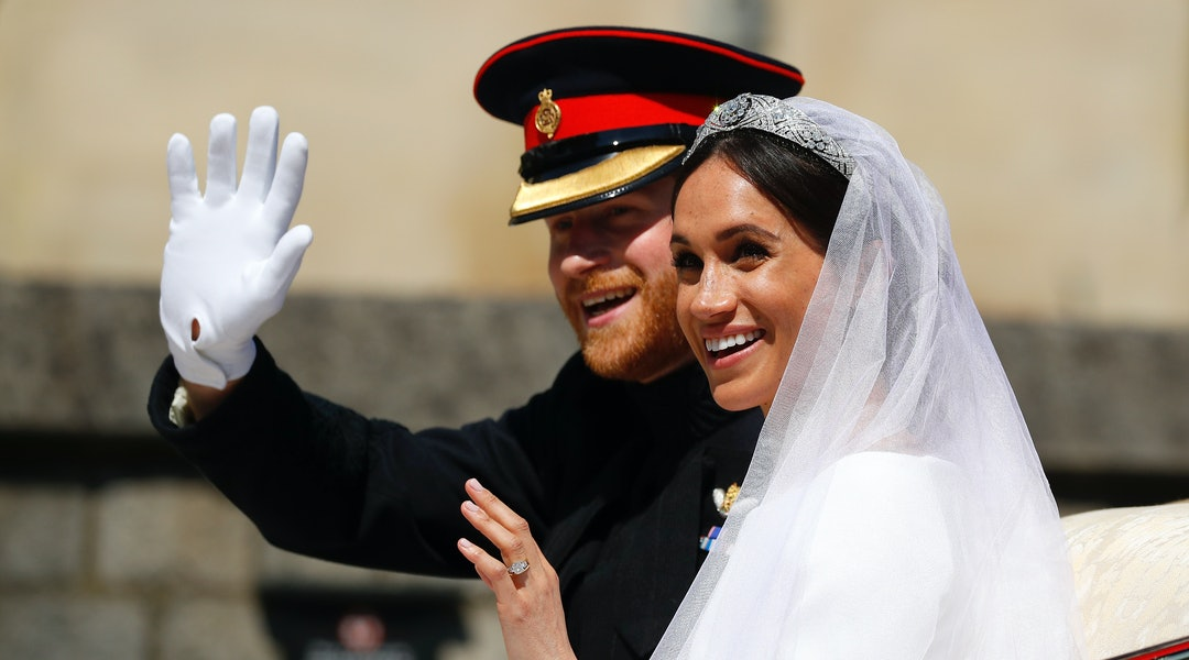 The exact light pink nail polish colors Meghan Markle wore for her wedding have been revealed.