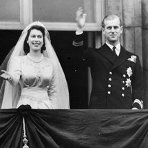 Queen Elizabeth wedding shot