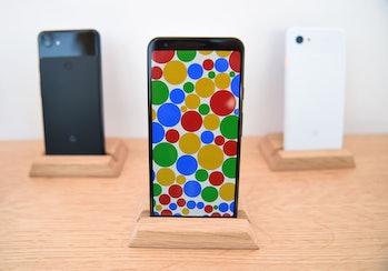 Three Google Pixel smartphones