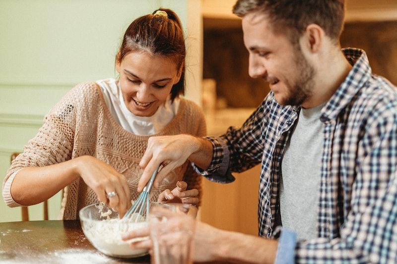 couple, baking