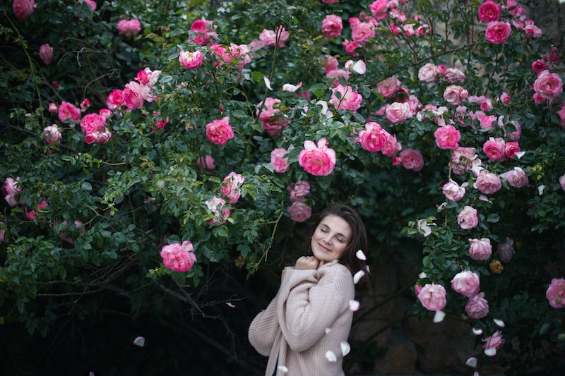 flowers, nature, woman