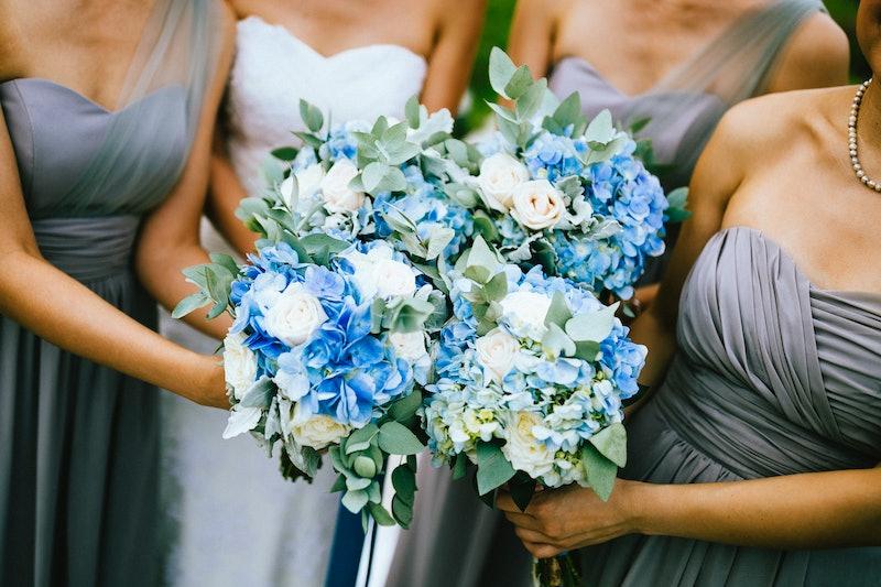 bridesmaids, wedding, flowers