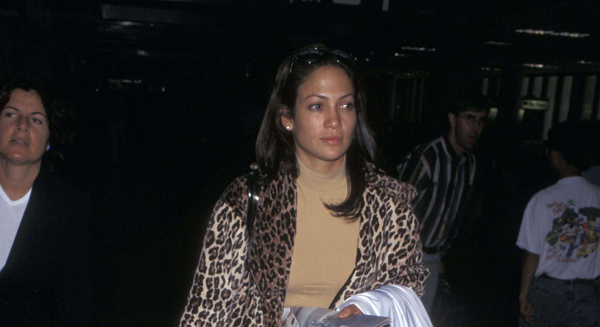 Jennifer Lopez at the airport in 1997.
