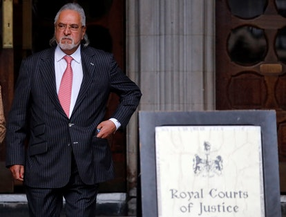 Vijay Mallya at London's Royal Courts of Justice in February 2020