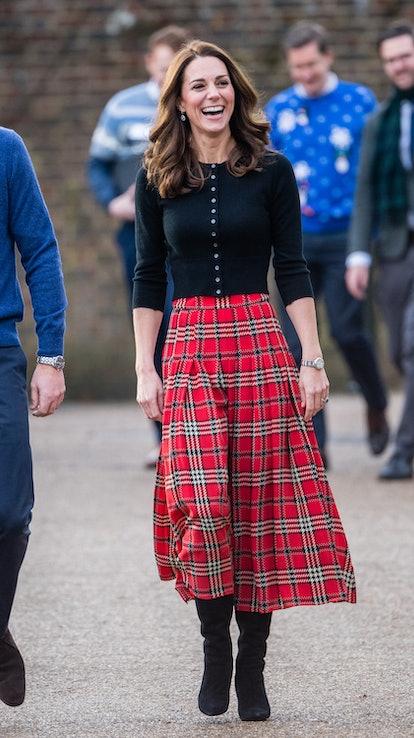 Kate Middleton Duchess of Cambridge Tartan Skirt