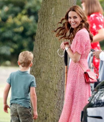 Kate Middleton Pink floral dress polo 2019