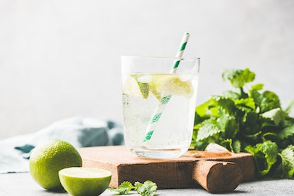 A vodka soda with lime. Vodka sodas and hard seltzers have many similarities, including alcohol content