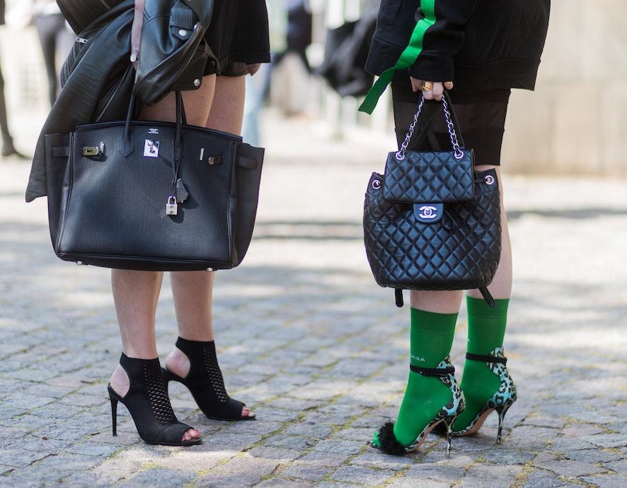 Luxury handbags street style