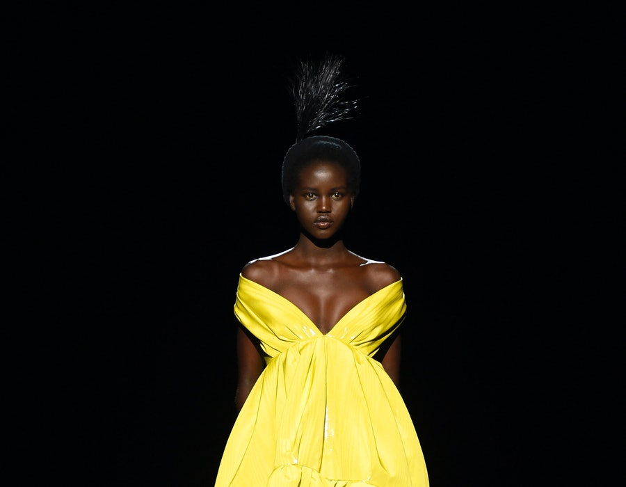 Adut Akech at Marc Jacobs Fall 2020 New York Fashion Week