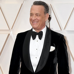 Tom Hanks has returned to work on Elvis Presley biopic six months after testing positive for COVID-19.