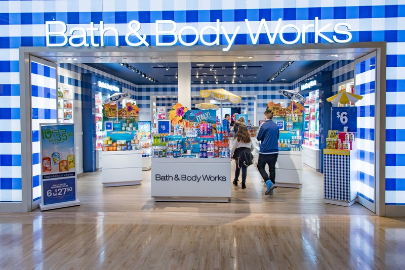 Bath & Body Works candles are buy one, get one free.