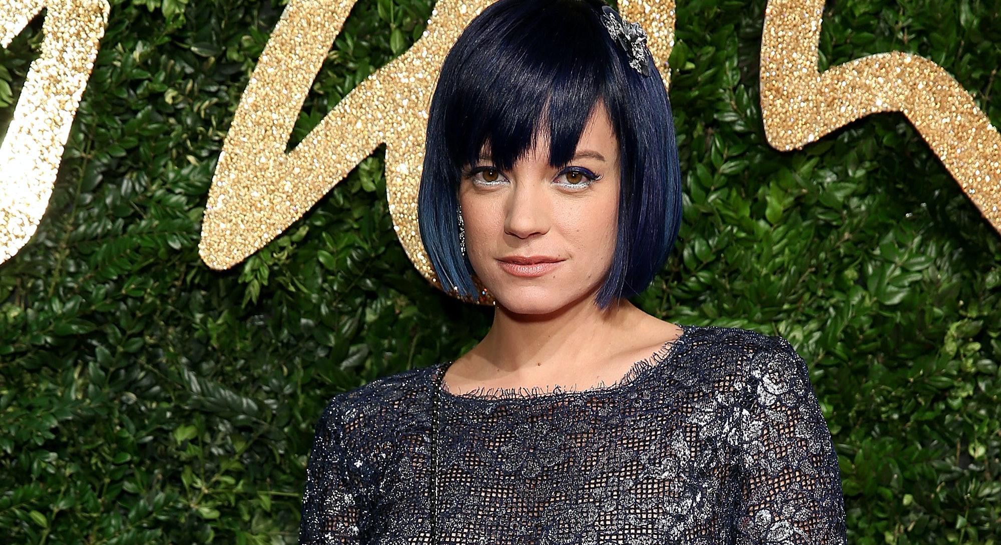 Lily Allen at the 2015 British Fashion Awards.