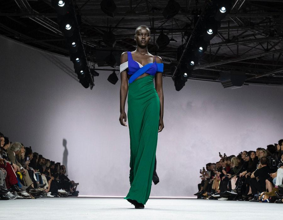 Adut Adech at Haider Ackermann Fashion Week