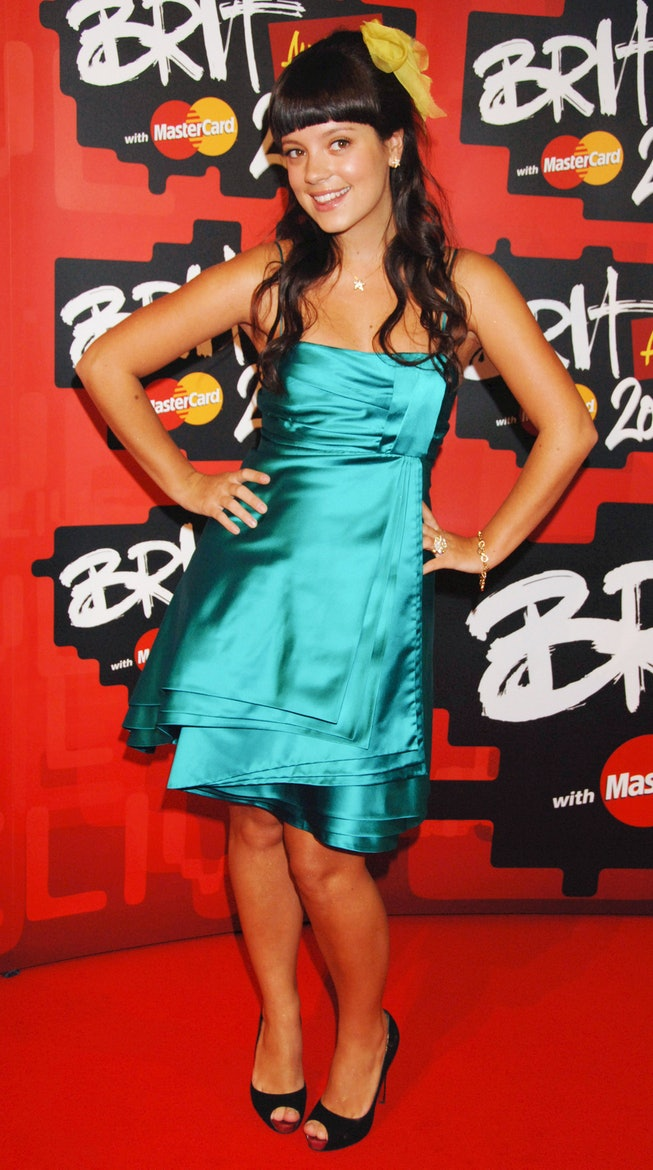 Lily Allen at the 2007 BRIT Awards.