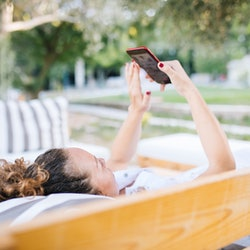 phone, outdoors, woman