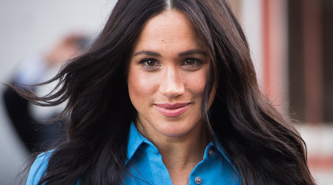 Meghan Markle debuted a chic low ponytail during a video call with a charity she's partnered with.
