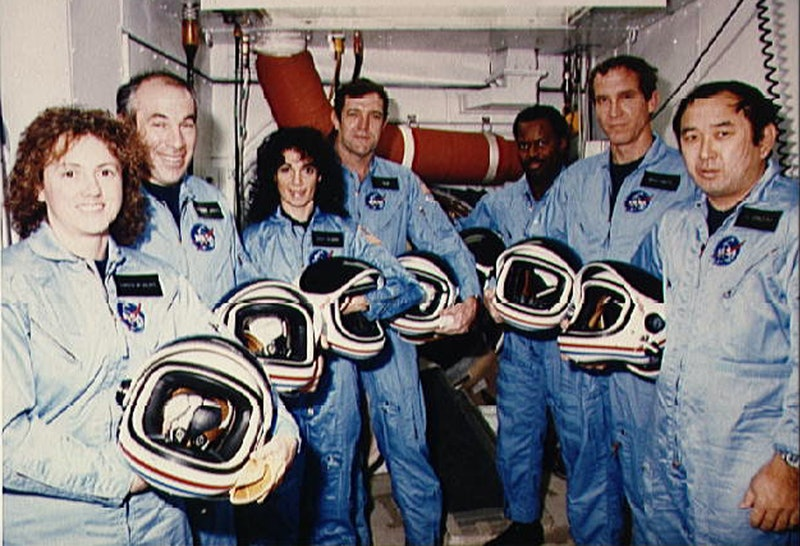 The crew of The Challenger space shuttle