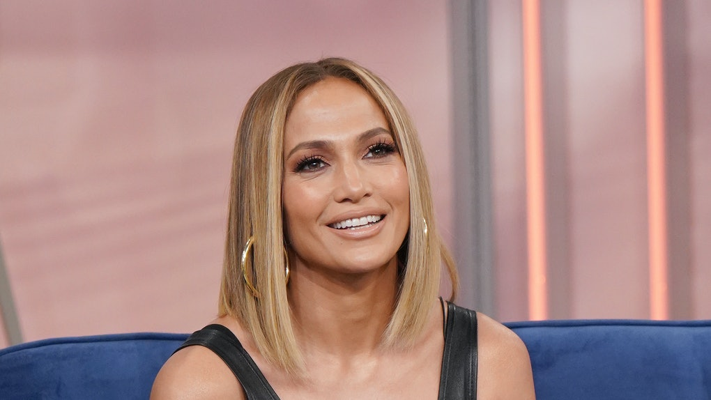J. Lo attends a television appearance.