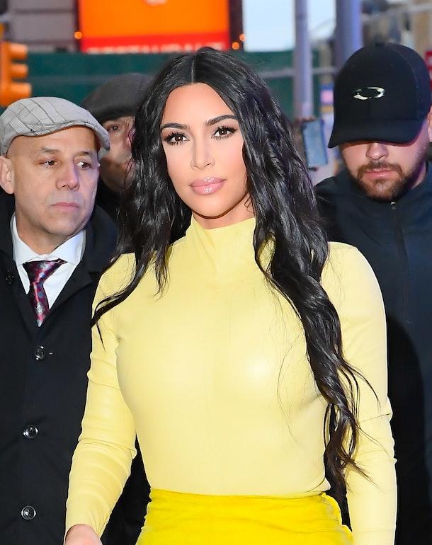 Kim Kardashian looks fierce in yellow.