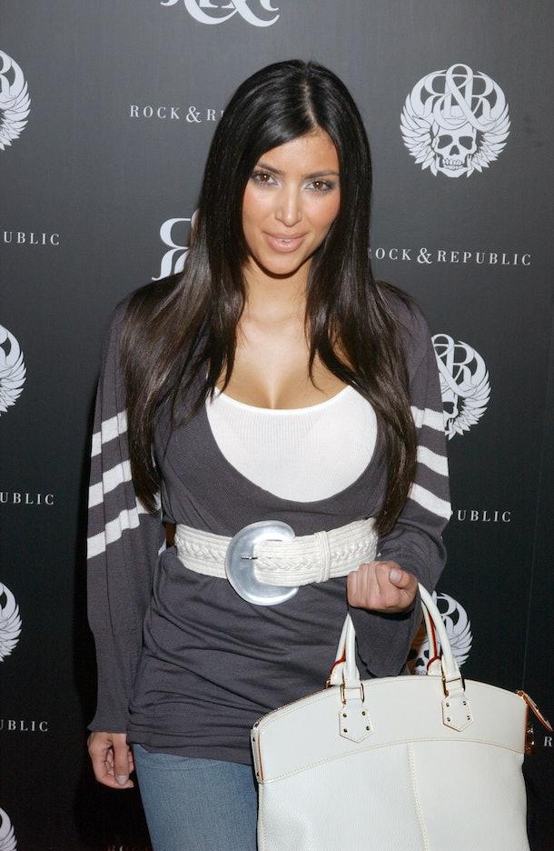 Kim Kardashian attends an event for Rock & Republic.