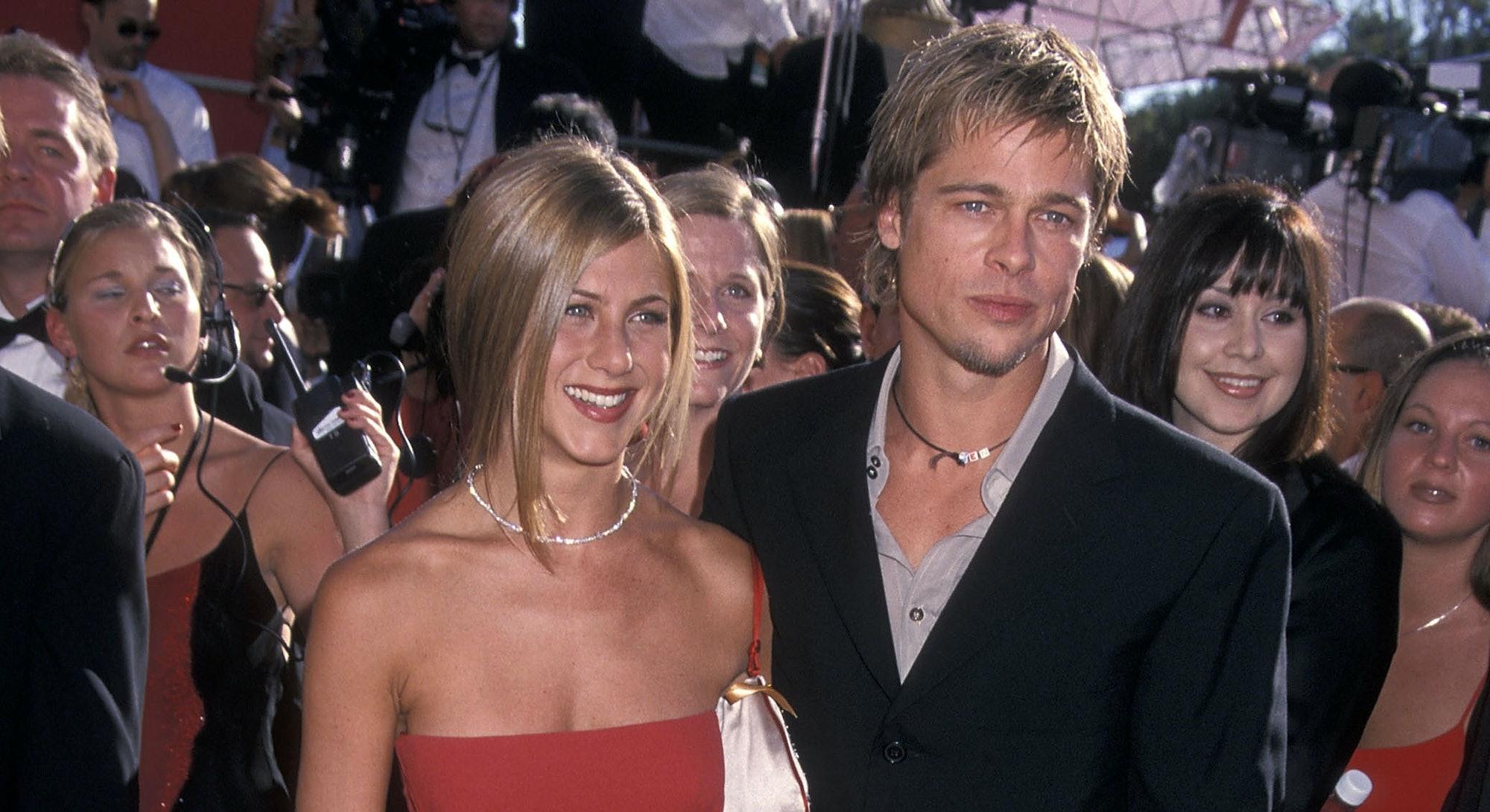 Brad Pitt and Jennifer Aniston at the 2000 Emmys.
