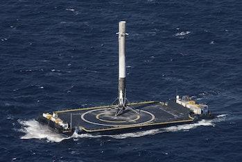 Falcon 9 on a droneship.