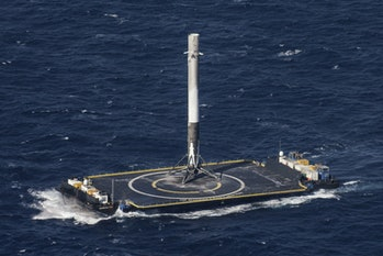 Falcon 9 on a droneship.