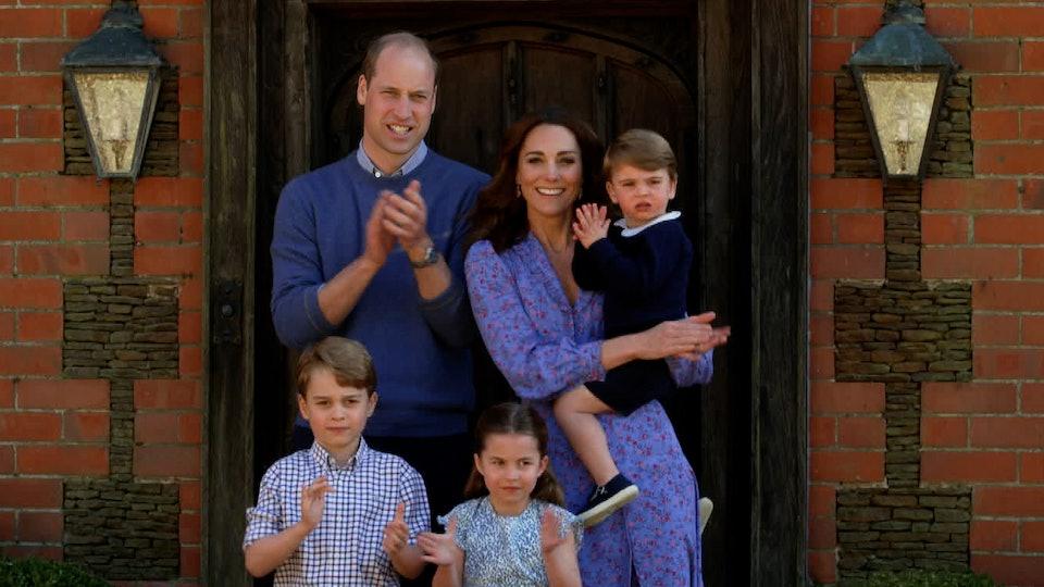 Prince Louis and Princess Charlotte both like diggers.