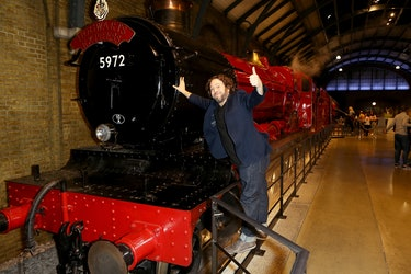 Dan with the Hogwarts Express.