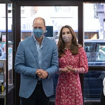 Kate Middleton and Prince William Pose With Face Masks