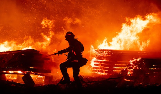 A firefighters has died in the California wildfires.