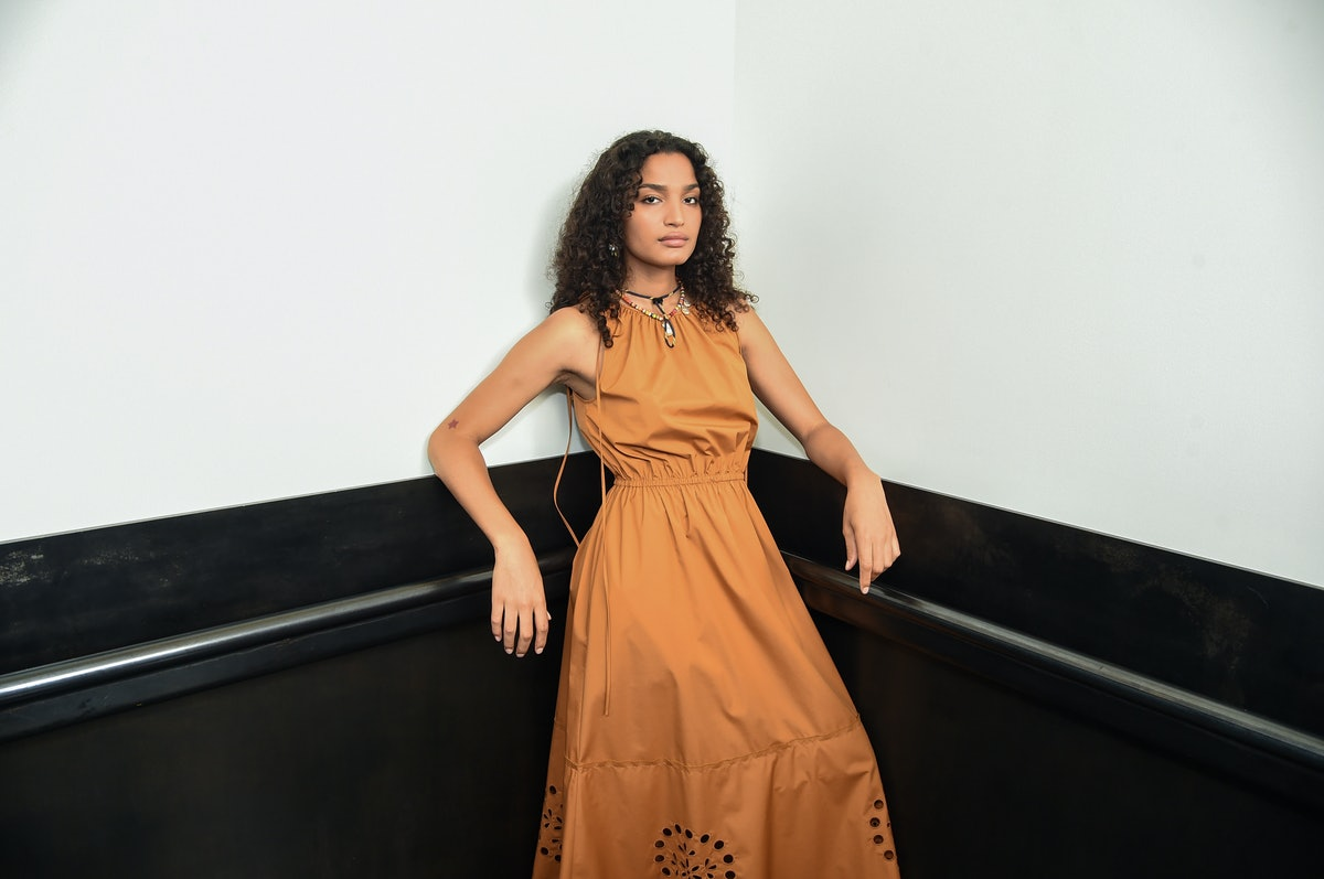 Indya Moore Backstage At Jason Wu Spring 2021 NYFW