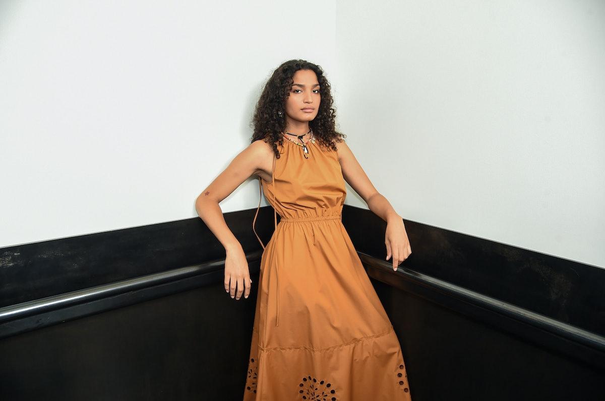 Indya Moore Backstage At Jason Wu Spring 2021 NYFW