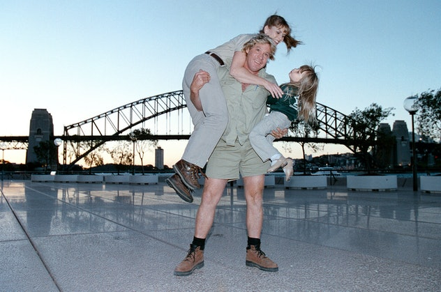 Steve Irwin holds his family together.